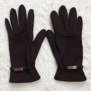 Nine West Stretch/Leather Gloves